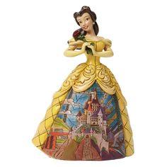 Enesco Disney Traditions Belle with Castle Dress