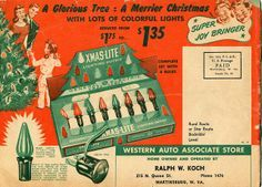 Christmas decoration in the 40's and 50's - Google Search