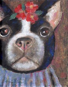 "Daily Paintworks - ""Terrier"" - Original Fine Art for Sale - © Jim Bliss"