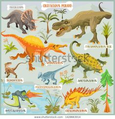 Find Dinosaurs Cretaceous Period Era Vector Eps stock images in HD and millions of other royalty-free stock photos, illustrations and vectors in the Shutterstock collection. Thousands of new, high-quality pictures added every day. Spinosaurus, Fantasy Map, Tyrannosaurus Rex, Vector Format, Period, Royalty Free Stock Photos, Artist, Pictures, Image