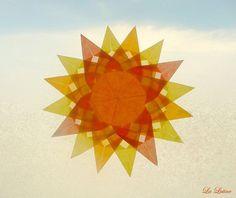 Sun Window Transparency  Summer Suncatcher Window Star by LaLutine