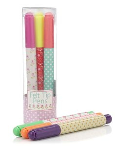 mini girl colouring pens  by Accesorize