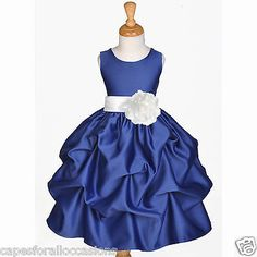 Navy Blue Flower Girl Dress Wedding Bridesmaid Pick Up 6M 12M 2 3T 4 5T 6 7 8 10 | eBay