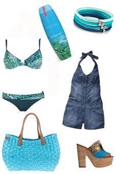 Looks de playa verano 2012 - look aguamarina