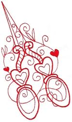 Enchanted Sewing 09 - 2 Sizes!   Redwork   Machine Embroidery Designs   SWAKembroidery.com