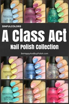 SinfulColors A Class Act Nail Polish Collection: Click through for full review & all the polishes! | Be Happy And Buy Polish http://behappyandbuypolish.com/2015/08/06/sinful-colors-a-class-act-nail-polishes-partial-collection/