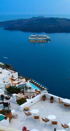 Hotel in Santorini. Villa Renos Hotel Santorini offers accommodation in Fira Santorini - Santorini hotels Places Around The World, Oh The Places You'll Go, Places To Travel, Places To Visit, Around The Worlds, Vacation Destinations, Dream Vacations, Vacation Spots, Wonderful Places