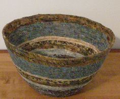 Coiled Fabric Bowl by QuiltingMyWay on Etsy