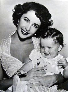 Elizabeth Taylor with Donald Clark, who played her son in Father's Little Dividend, 1953.