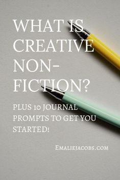Have students complete create non-fiction writing. This will help them to understand the components behind non-fiction writing and give them a chance to write! Memoir Writing, Writing Prompts For Writers, Essay Prompts, Writing Advice, Writing A Book, Journal Prompts, Writers Notebook, Writing Lab, Writing Genres