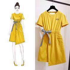 Love these korean fashion outfits 9535708479 Fashion Week, Girl Fashion, Fashion Dresses, Womens Fashion, Fashion Sewing, Fashion Clothes, Street Fashion, Trendy Fashion, Korean Fashion Trends