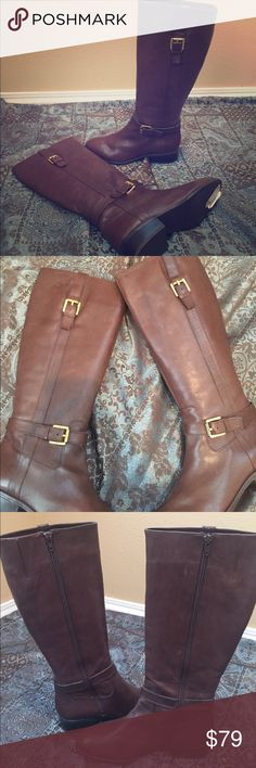 New w/Flaws Ralph Lauren Sz 6.5 Riding Boots Former Display Ralph Lauren Riding Style Boots MONICA  Size:  6.5 See pictures for calf size  Color: Brown  Material: Leather  Approximate Heel Height: 1.5 Condition: New with a lot of visual scuffs. Very soft leather.   PLEASE NOTE: I do not make any claims as to how this item will fit or feel on you personally. I can only give an accurate objective description of the item itself. Please ask questions before making an offer. Lauren Ralph Lauren…