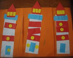 lighthouse crafts for kids | The kids really enjoyed this craft and it was also a way for me to ...