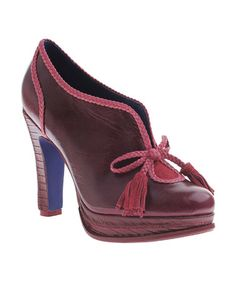 Take a look at this Burgundy Rouge Bootie by Poetic Licence on #zulily today! Help me please... I am so in love with these shoes....awesome.