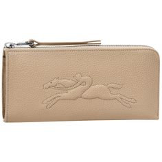 Zip around wallet - Le Foulonné - Small leather goods - Longchamp - Duck blue - Longchamp United-States