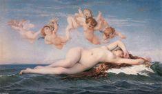 """""""ヴィーナスの誕生"""", オイル バイ Alexandre Cabanel (1823-1889, France)"""