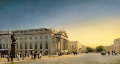 Eduard Gaertner A View of the Opera and Unter den Linden, Berlin 1845 Oil on canvas. 42 x 78 cm Carmen Thyssen-Bornemisza Collection on deposit at Museo Thyssen-Bornemisza INV. Nr. (CTB.1988.19)