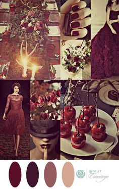 Dark and Stormy Romance Wedding Moodboard I Braut Concierge  ft. Lena Hoschek