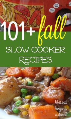 Check out this list of over 101 Easy Fall Crock Pot Recipes!