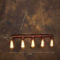 vintage pingente american luz edison industrial água luz tubos estilo e27*5pcs arte decoração luminária iluminação restaurante bar US $199.00