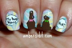 Chocolate Easter Bunny Nails
