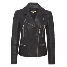 Whistles Jett Leather Biker, $610; whistles.com   - ELLE.com