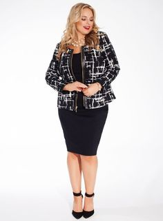 Louise Jacket in Lattice Noir