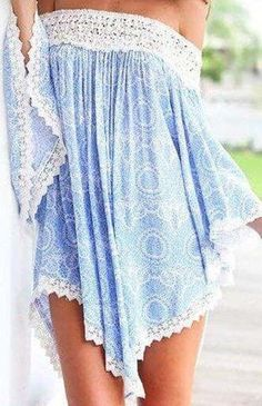 #Summer #Outfits / asymmetrical off the shoulder playsuit