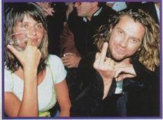 Michael Hutchence & Helena Christensen