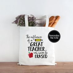 DIY Teacher Tote Gift Idea | Heat transfer vinyl, Heat transfer ...