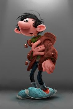 Gaston Lagaffe by Franquin by Alex Blain 3d Character, Character Drawing, Character Illustration, Character Design, Marvel Cartoon Movies, Cartoon Art, Cartoon Characters, Caricatures, Black Comics