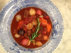 Lamb stew with cipollini onions, fresh veggies & new potatoes