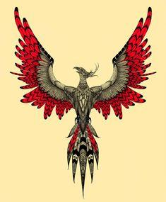 Phoenix Painting, Phoenix Drawing, Phoenix Art, Phoenix Bird Tattoos, Phoenix Tattoo Design, Knuckle Tattoos, Biker Tattoos, Old School Tattoo Designs, Tattoo Designs Men