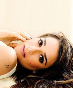 Lea Michele. She is an inspiration, beautiful, strong and a great singer/ actress. #glee