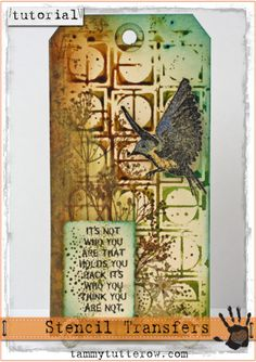 Tammy Tutterow Tutorial: Stencil Transfers
