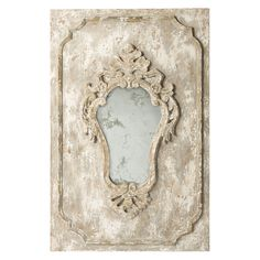 Cream Distressed Vintage French Mirror - Vintage French
