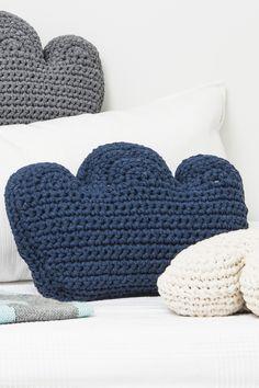 Novita patterns for kids and toys, cloud cushion made with Novita Eco Tube yarn #novitaknits https://www.novitaknits.com/en