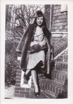 1940's Woman in Fur by FunerealEphemera on Etsy, $7.00
