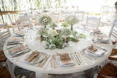 Ιδεες για διακοσμηση γαμου με λευκα λουλουδια - Love4Weddings