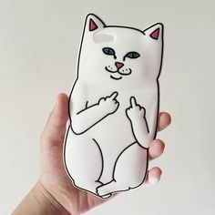 Adorable Ripndip Cat Lord Nermal Silicone iPhone6, iPhone 7/7 Plus case
