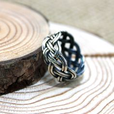 Weave sterling silver wire ring. Basket ring. by rosajuri on Etsy, $32.00