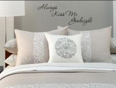 #RMhome #always #kiss #me #goodnight #bedroom #inspiration