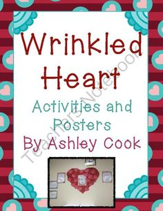 Wrinkled Heart Activities ! Enter for your chance to win 1 of 2.  Wrinkled Heart Activities (37 pages) from Teaching In Bronco Country on TeachersNotebook.com (Ends on on 9-11-2014)  This is my latest product! Enter for a chance to win!  Establishing a caring classroom environment is an import component of a successful classroom. One great way to do this is with the wrinkled heart poem.   This includes:  2 pages of teacher notes and lesson plans 3 different sets of posters Two pennant flag…