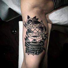 old school tattoo globe - Pesquisa Google
