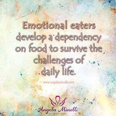 Emotional eaters develop a dependency on food to survive the challenges of daily life. Health Eating, Eating Healthy, Sacral Chakra Healing, Compulsive Eating, Keep The Promise, Inside Job, Lose Weight Naturally, Health Coach, Chakras