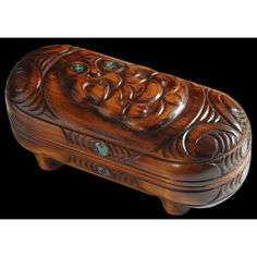 Wooden Maori Wakahuia - These sacred and ornately carved boxes are made from the native Tawa or Kauri tree and were used by Maori tribes to store valuables. This unusual gift is perfect for storing any kind of small valuables you may have. Kauri Tree, Maori Tribe, Maori Art, Unusual Gifts, Beautiful Hands, Jewelry Box, Gifts For Her, Artisan, Boxes