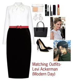 """""""Matching Outfits- Levi Ackerman (Modern Day)"""" by charbear231 ❤ liked on Polyvore featuring Parker, Jupe By Jackie, Versus, Christian Dior, Marc Jacobs, Chanel, Ippolita, Levi's and modern"""