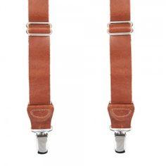 Bretelles en cuir marron - Boutique Vintage