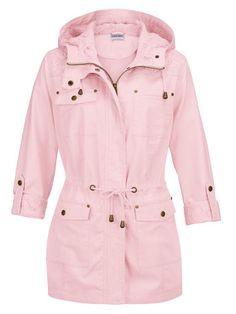 Erinnert Sie der Parka eher an rosa Wolken oder cremiges Erdbeereis? #Mode