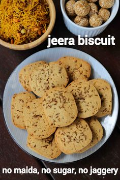 jeera biscuits recipe, jeera cookies, zeera biscuits, cumin cookies with step by step photo/video. cookies or biscuits with cumin seeds & wheat flour. Healthy Cookie Recipes, Baking Recipes, Snack Recipes, Easy Recipes, Indian Biscuit Recipe, Simple Biscuit Recipe, Comida India, Indian Dessert Recipes, Indian Snacks
